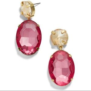 BaubleBar Cassielle Pink Faceted Drop Earrings